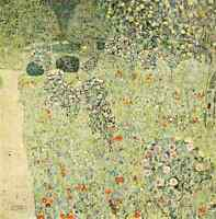 A4 Photo Klimt Gustav 1832 1918 Orchard with Rose Bushes Print Poster