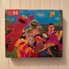Vtg Sesame Street 24 Piece Puzzle Milton Bradley Elmo Bert Ernie Kite Complete