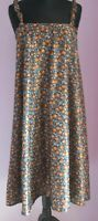 VTG Ladies EPISODE Brown/Blue Floral Polyester Tent Style Sundress Size Small
