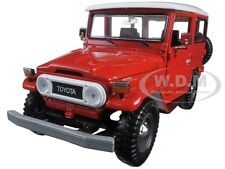 TOYOTA FJ40 FJ 40 RED 1:24 DIECAST MODEL CAR BY MOTORMAX 79323