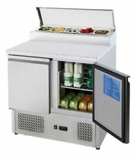 Commercial Double 2 Door Counter Open Top Pizza Saladette Food Prep Fridge