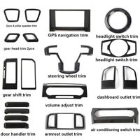 19pc Carbon Fiber Full Interior Decoration Frame Cover Trim For Ford F150 2015+
