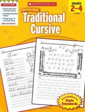 Scholastic Success with Traditional Cursive (2010, Paperback) Grades 2-4