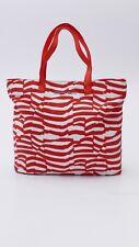ARMANI Jeans Designer Stoff Tasche Strandtasche Shopper handbag rot weiß