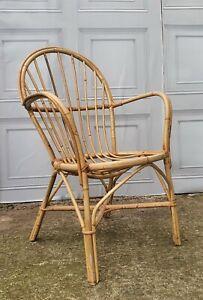 Vintage Franco Albini Style Rattan Wicker Chair