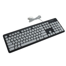 Logitech Wired Washable SlimUSB PC Laptop Keyboard Keypads Black/White EasyClean