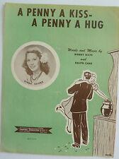 A Penny A Kiss - A Penny A Hug; 1950 Sheet Music - Buddy Kaye & Ralph Care