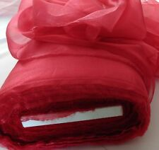 """Organza Sparkle Red Scarlett 60"""" wide, Party  or craft supply, free swatches."""
