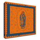Tangletown Fine Art Orange and Blue Mary by Marta Wiley on Canvas 8W966Dc-3835