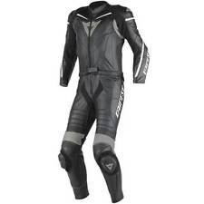 Tute in pelle e altri tessuti neri per motociclista pelle , Taglia 48