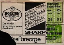 Ticket DFB-Pokal 88/89 Hamburger SV - SV Werder Bremen, Südtribüne
