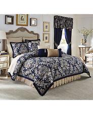 Croscill Home Imperial Damask Jacquard BLUE Multi Queen 4PC Comforter Set $420