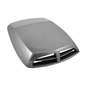 Car Air Flow Intake Hood Scoop Vent Bonnet Cover Carbon Fiber Look Accessories