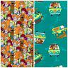 Scooby-Doo Fabric 2 Designs 100% Cotton Sold Per 1/2 Metre 112cm Wide