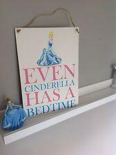 132 CINDERELLA PRINCESS DISNEY SIGN BEHAVIOUR KIDS BED TIME REWARD WALL SIGN