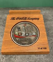2012 Coca-Cola Veterans Day RARE Challenge Coin VIP Box Set! Numbered to 100!