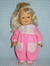 "FAMOSA BABY DOLL 14"" 1995 BLOND SQUEEZE BELLY CRYING EXPRESSION VINYL SOFT BODY"