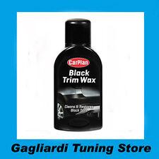 Cera Paraurti Specchietti Plastica Nera Black Trim Wax 375 ml Carplan Auto