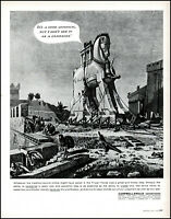 1958 Trojan Horse Soldiers Campbell-Ewald Advertising vintage art print ad L39