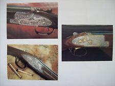 3 cartes postales armurerie arme belge fusil chasse FN Herstal Browning