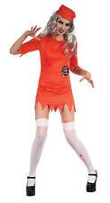 Zombie Prisoner Lady Fancy Dress Costume Outfit Womens Adult UK 10-12