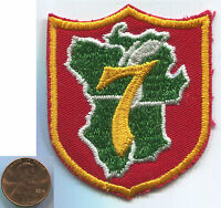P117i BSA Boy Scouts Of America, Region 7, Red & Green Shield, old unused patch