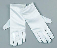 Ladies White Satin Gloves Nurse Wedding Bridesmaid Magician Fancy Dress