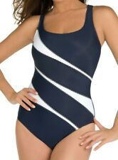 Miraclesuit One Piece Underwire Helix Swimsuit, Navy 10