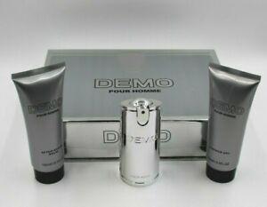 DEMO Pour Homme Eau De Toilette, After Shave Balm, Shower Gel Gift Set