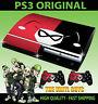 PLAYSTATION PS3 ORIGINAL HARLEY QUINN LOGO RED BLACK BATMAN SKIN & 2 X PAD SKINS