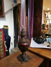 LAMPE A PETROLE FLEURS EMAILLEES