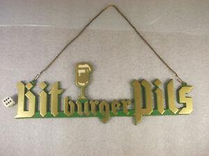 Sehr altes Metallschild BITBURGER PILS Zapfhahnschild Brauerei Simonbräu