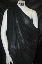 Micro Modal Silk Jersey  Sheer Knit Fabric Ecofriendly Fiber BLACK 4.5 oz
