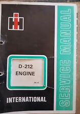 INTERNATIONAL D-212 ENGINE SERVICE MANUAL