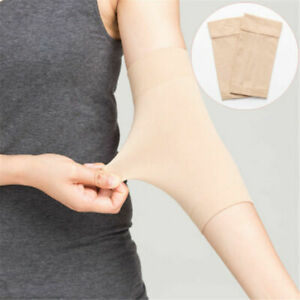 2 Pairs Skin Forearm Tattoo Cover Up Compression Sleeves Band Concealer Support