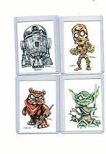 Star Wars #4 Movie (4 Cards) Art Prints Yoda C3Po R2-D2 Ewok Rak