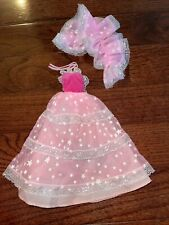 New listing BARBIE CLOTHES LIGHT PINK WHITE SILVER STARS GOWN DRESS FASHION STYLE & Wrap