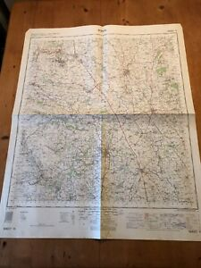 "HUGE 1962 RAF CROWN COPYRIGHT ""RIPON"" (35.5"" x 29.5"") CHART MAP"