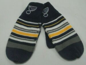 NHL St. Louis Blues Knit Winter Mittens By Reebok - Adult Osfa - NWOT