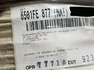 Belden Wire 6501FE 22/3C Shielded Security/Alarm Cable CMP Plenum White /100ft