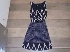 rue 21 STYLISH black & white sleeveless dress with design size S