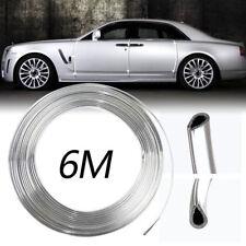 6M Trim Strip Chrome Moulding Car Door Edge Scratch Guard Cover Grills Fashion