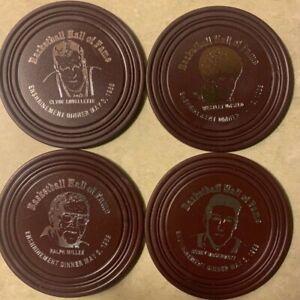 New NIB Hall Of Fame Enshrinement Coaster Set of 4  Wes Unseld, Clyde Lovellette