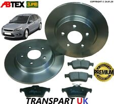 FOR FORD FOCUS MK2 REAR BRAKE DISCS AND PADS SET PETROL DIESEL 04 - 11 280MM