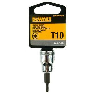 "Dewalt DWMT874040SP Chrome T10 Torx Bit Socket, 3/8"" Drive, 87-404D"
