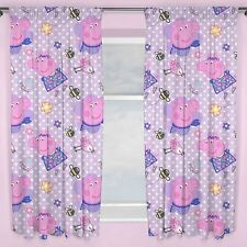 "Peppa Pig Happy Pleated Readymade Curtains - 54"" or 72"" Drop Matches Bedding"