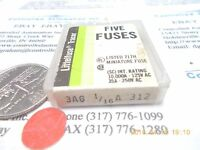 Littelfuse 3AG 1/16A-312 Fuse/Fuses, Lot of 5