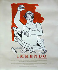 Jörg Immendorff: Immendo. 2001. Original-Farbsiebdruck, signiert