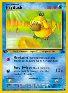 Pokemon - 1st edition Psyduck  - 53/62 Fossil NM 3009