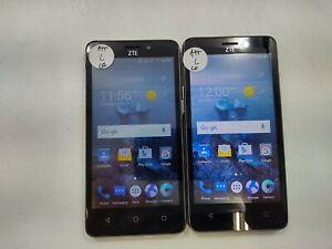 Lot of 2 ZTE Maven 2 8GB AT&T Check IMEI Fair Condition DA-221